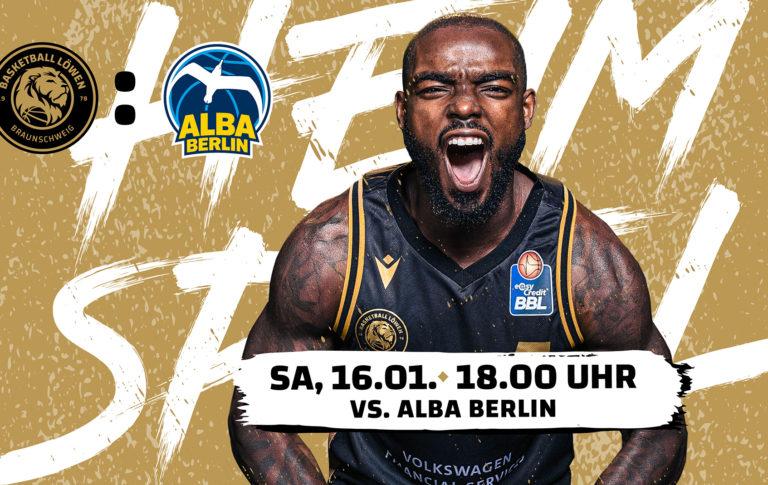 Löwen empfangen Euroleague-Team und Double-Sieger ALBA BERLIN