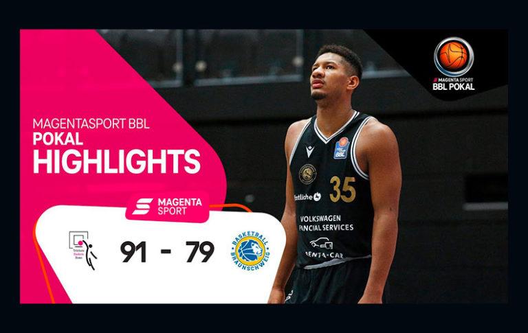 Telekom Baskets Bonn – Basketball Löwen Braunschweig   MagentaSport BBL Pokal, 20/21   MAGENTA SPORT
