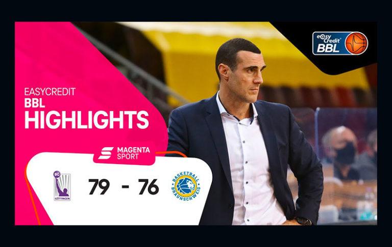 BG Göttingen – Basketball Löwen Braunschweig | 2. Spieltag, 2020/2021 | MAGENTA SPORT
