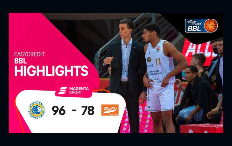 Basketball Löwen Braunschweig – RASTA Vechta | 3. Spieltag, 2020/2021 | MAGENTA SPORT