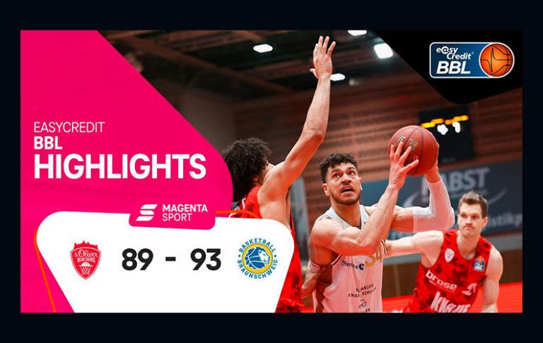 s.Oliver Würzburg – Basketball Löwen Braunschweig | 5. Spieltag, 2020/2021 | MAGENTA SPORT