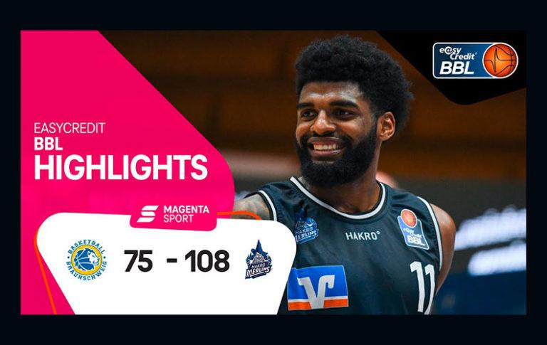 Basketball Löwen Braunschweig – HAKRO Merlins Crailsheim | 7. Spieltag, 2020/2021 | MAGENTA SPORT