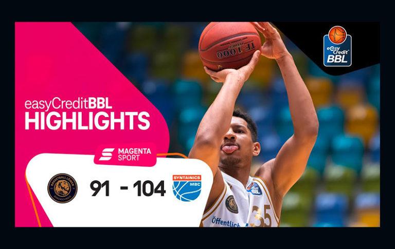 Basketball Löwen Braunschweig – SYNTAINICS MBC | 12. Spieltag, 2020/2021 | MAGENTA SPORT