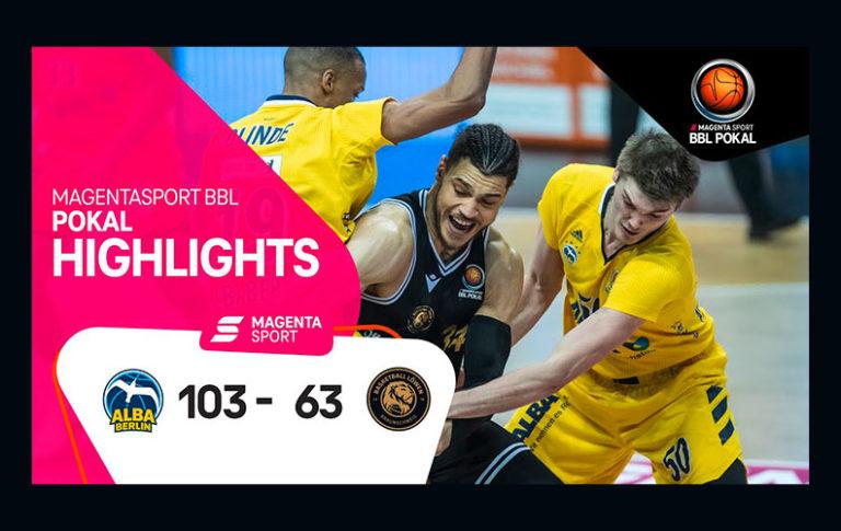 ALBA BERLIN – Basketball Löwen Braunschweig | MagentaSport BBL Pokal, 2020/2021 | MAGENTA SPORT